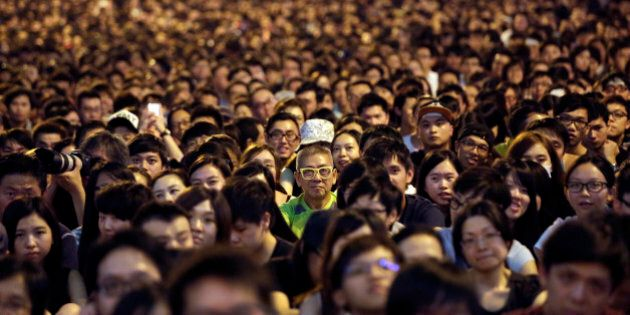 Thousands of pro-democracy activists attend a rally on the streets near the government headquarters,...