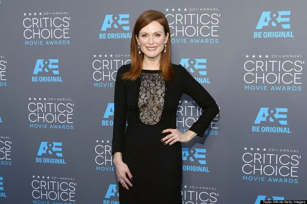 Julianne Moore Stands Out In Illusion Dress At Critics' Choice