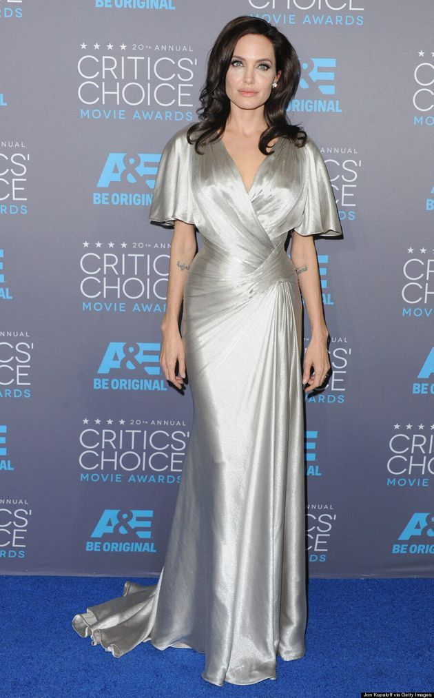 Angelina Jolie Is A Shimmery Goddess At The 2015 Critics' Choice