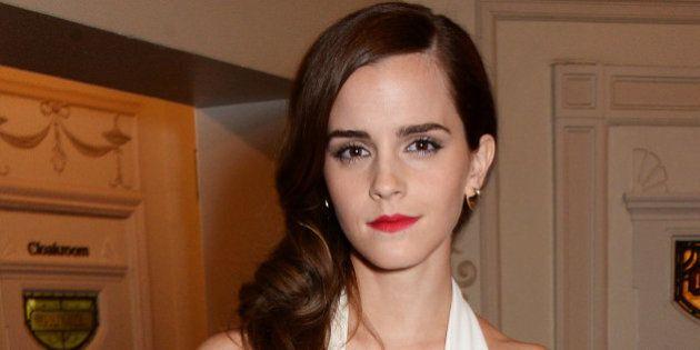 LONDON, ENGLAND - DECEMBER 01: Emma Watson, winner of the British Style award, attends the British Fashion...
