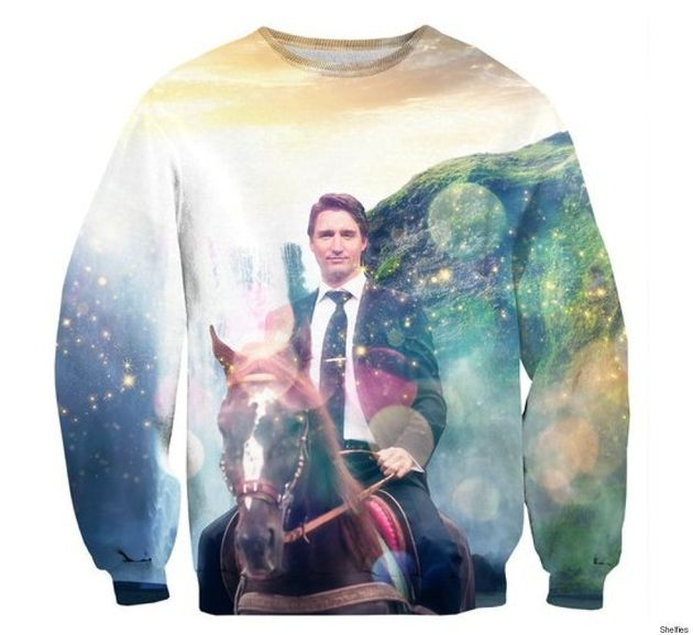 New Justin Trudeau Sweater Shows A Moose-Riding Prime