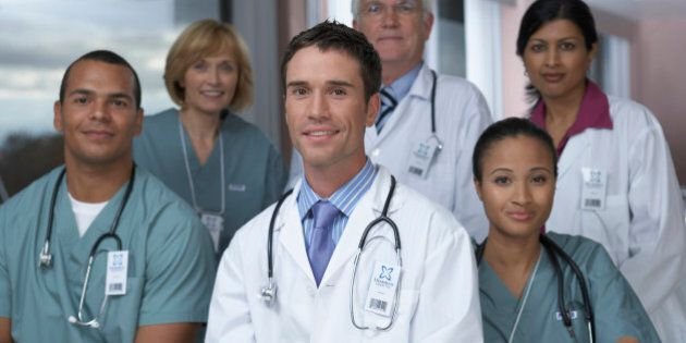 'Group of doctors smiling,