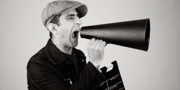 Man shouting on