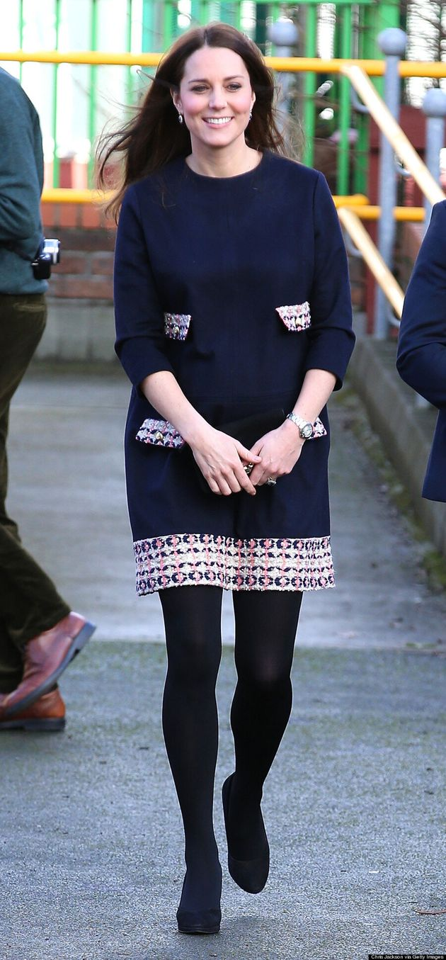Kate Middleton Wears Adorable Maternity Dress At Primary