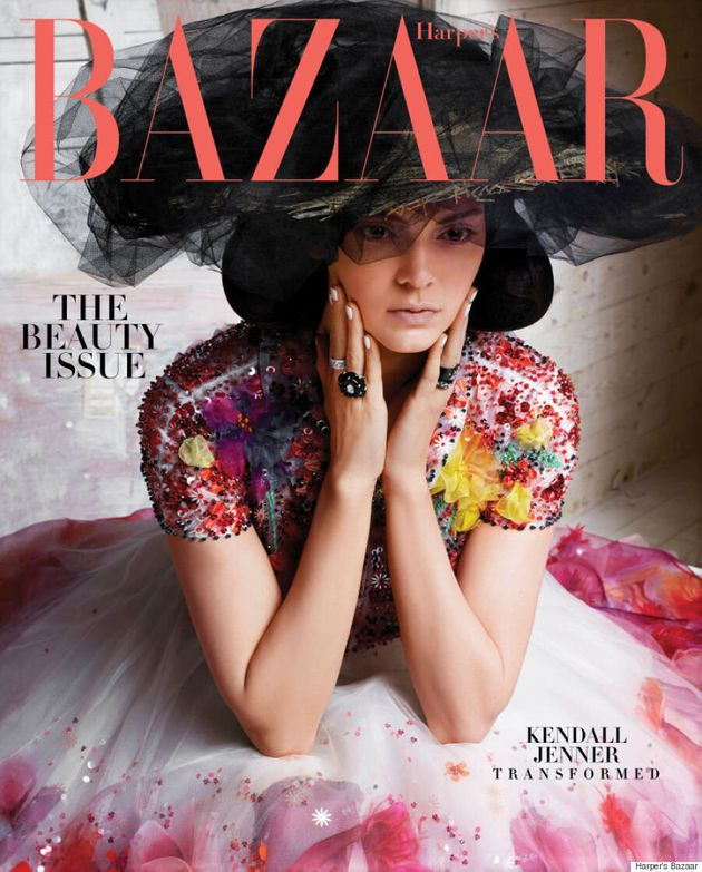 Kendall Jenner Stuns In Couture On The Subscriber Cover Of Harper's