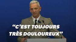 Le général d'armée très ému en évoquant la mort des militaires français au Burkina