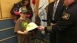 B.C. Boy Who Saved His Mom Honoured For