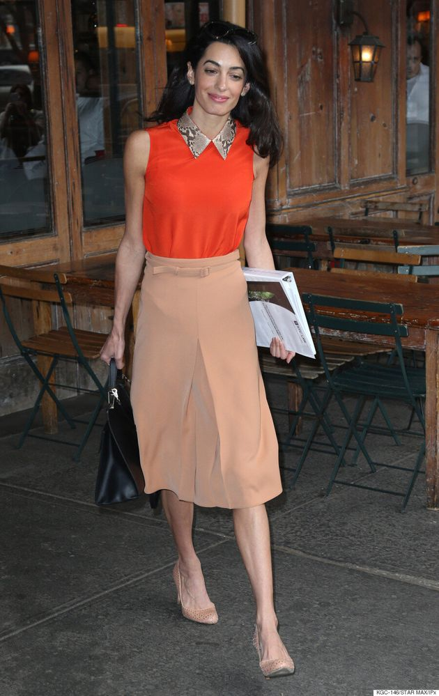 Amal Clooney Slays At Colour Blocking In '60s-Style