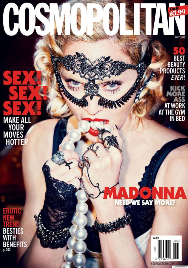 Madonna Channels A Sexy Dominatrix On Cosmopolitan's 50th Anniversary Issue