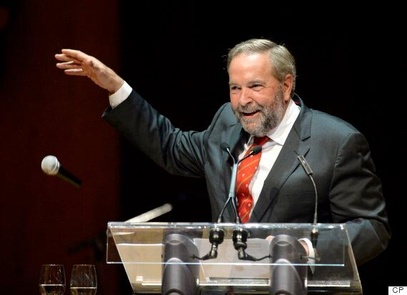 Tom Mulcair Gleefully Drops F-Bombs At Press Gallery