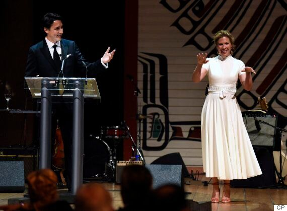 Sophie Gregoire Trudeau Steals The Show From PM At Press Gallery