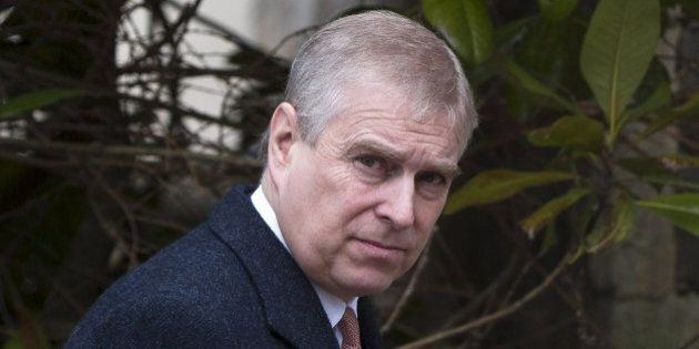 WINDSOR - UNITED KINGDOM - APRIL 5: Prince Andrew, Duke of York leaves the Easter Sunday service at St...