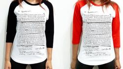 Shirt Has Kurt Cobain's Suicide Note On