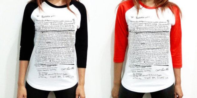 No One Needs This Shirt With Kurt Cobain's Suicide Note On