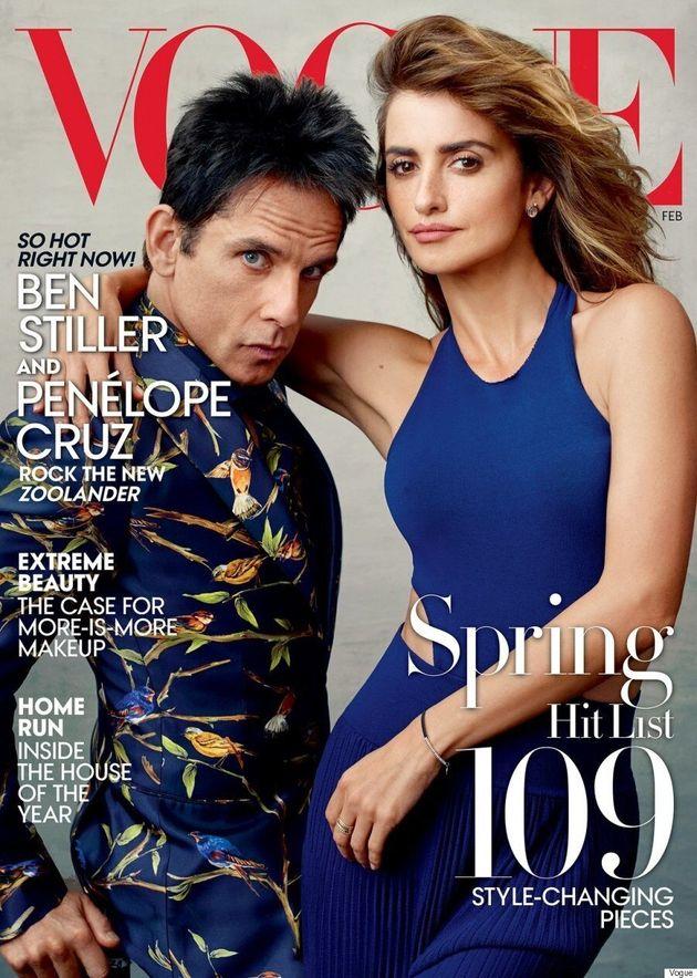 Derek Zoolander (a.k.a. Ben Stiller) Lands February Vogue Cover Alongside Penélope