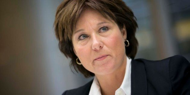 Christy Clark, premier of British Columbia, speaks during an interview in New York, U.S., on Wednesday,...