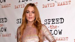 Lindsay Lohan's Red Carpet Look Is Spot
