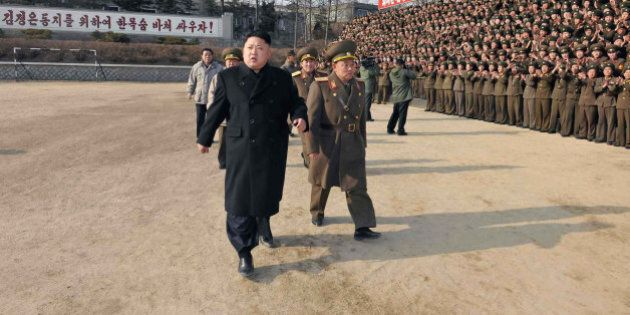 This undated picture released from North Korea's official Korean Central News Agency (KCNA) on January...