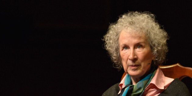 CAMBRIDGE, MA - MAY 01: Canadian Author Margaret Atwood receives the 2014 Harvard Arts Medal at Harvard...