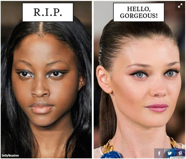 Cosmopolitan Facing Backlash For Using White Models For 'Gorgeous' Trends And Black Models For 'Trends...