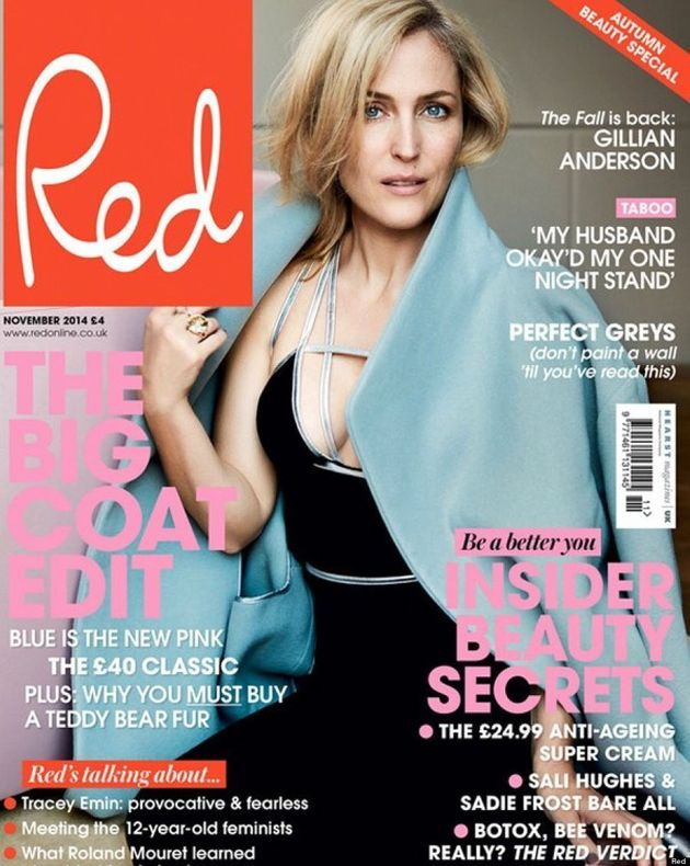 Gillian Anderson Strikes A Seductive Pose For Red