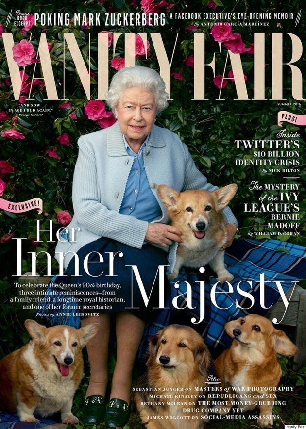Queen Elizabeth II Appears On Cover Of Vanity Fair's Summer