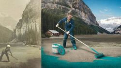 Lake Louise Drained,