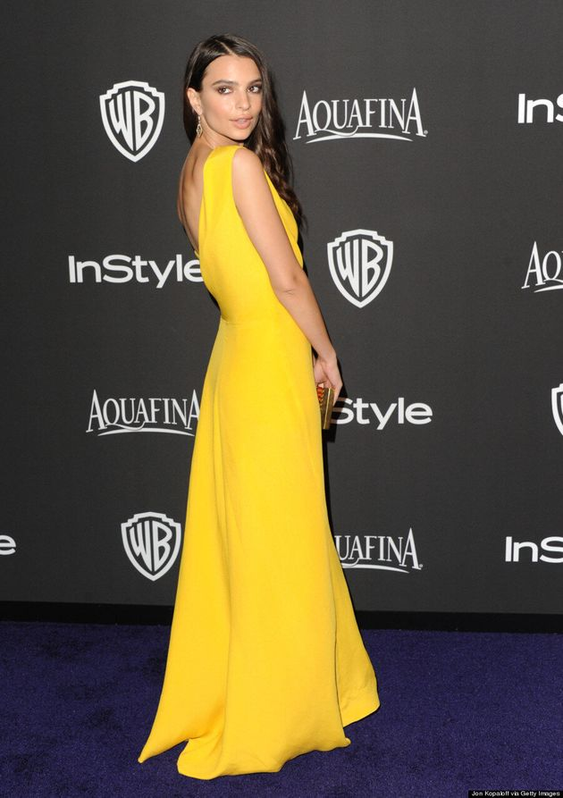 Emily Ratajkowski's 2015 Golden Globes After-Party Dress Is Subtly
