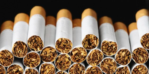 Close-up of Tobacco Cigarettes Background or