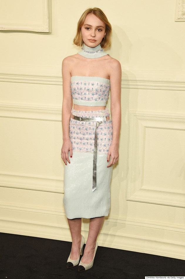Lily-Rose Depp Makes Her First Fashion Show Appearance At