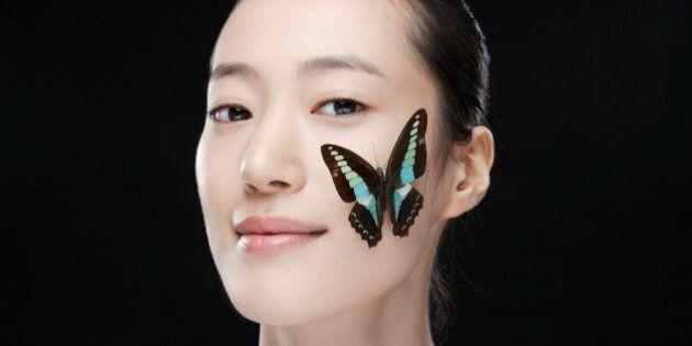 Studio ShotBeauty ButterflyHair Back Looking