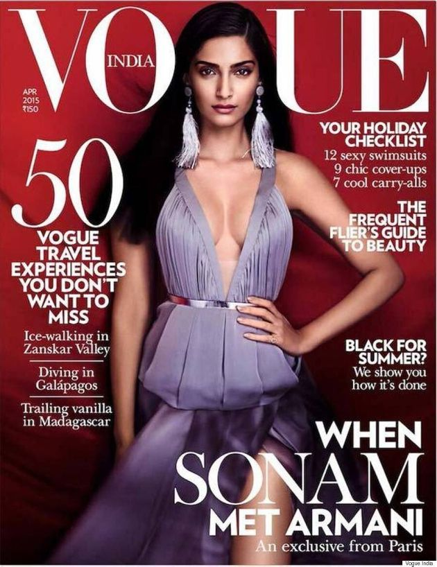 Sonam Kapoor Looks Regal In Purple On The Cover Of Vogue