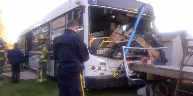 St. Albert Bus Crashes Through 2 Backyards