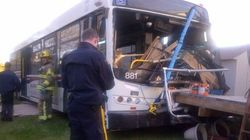 LOOK: Bus Crashes Through 2