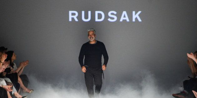 TORONTO, ON - MARCH 26: Designer Evik Asatoorian presents his fall 2015 Collection during World MasterCard...