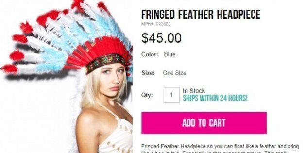 Company Sells Native American Headdress, Says It's Not Racist In The Worst Way