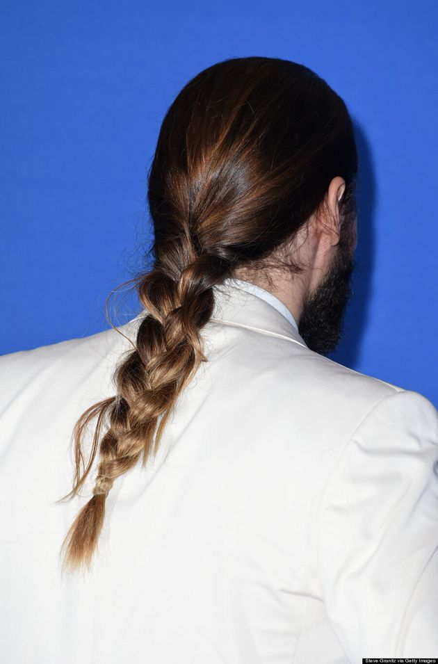 Jared Leto Rocks A Man Braid At The 2015 Golden