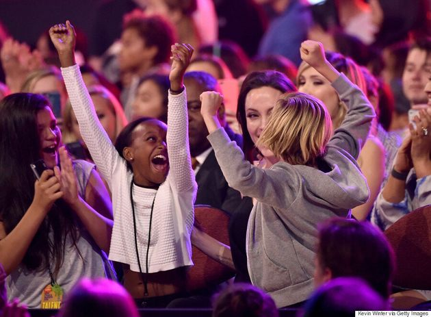 Angelina Jolie Stuns At Nickelodeon Kids' Choice Awards In Versus