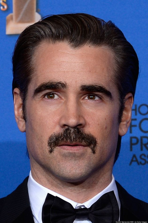 Colin Farrell's Golden Globes Moustache Stole The