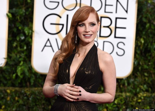 Jessica Chastain's Golden Globes 2015 Dress Is Her Sexiest