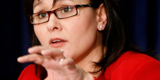 Canadian Health Minister Leona Aglukkaq takes part in a news conference at Health Canada in Ottawa, Canada...