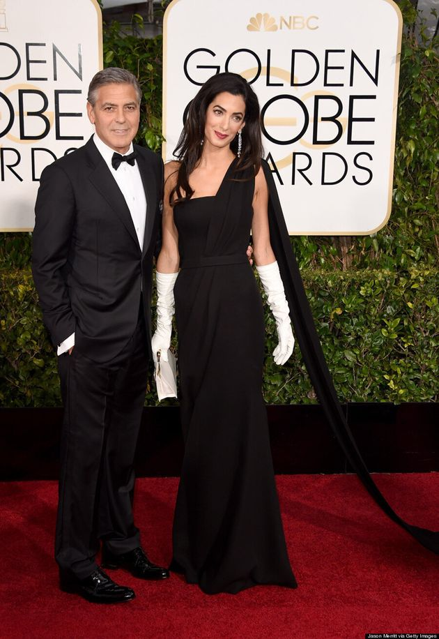 Amal Clooney's Golden Globes 2015 Gloves Steal The Red
