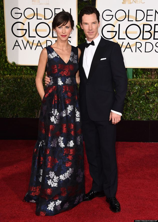 Benedict Cumberbatch And Sophie Hunter Rule The Golden Globes 2015 Red