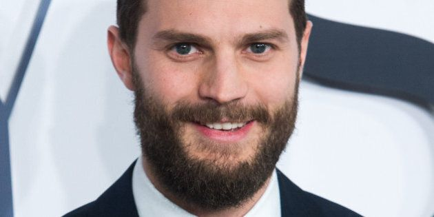 LONDON, ENGLAND - FEBRUARY 12:  Jamie Dornan attends the UK Premiere of 'Fifty Shades Of Grey' at Odeon Leicester Square on February 12, 2015 in London, England.  (Photo by Samir Hussein/WireImage)