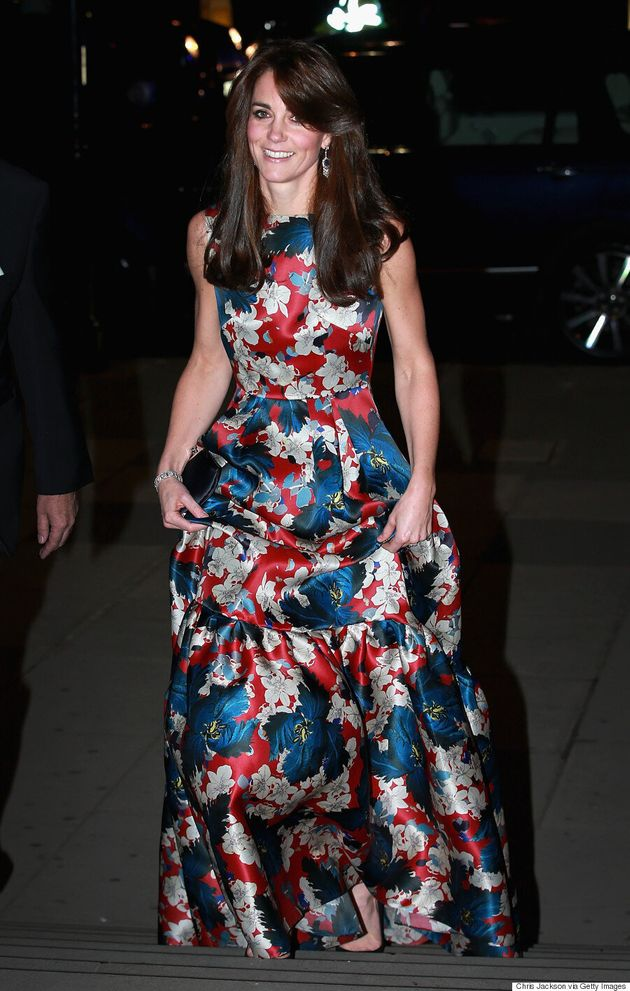 Kate Middleton Steps Out In Floral Erdem Gown For Black Tie