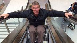 Rick Hansen Conquers An Escalator Like The BOSS He