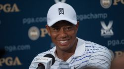 Tiger Woods Gets Into The Restaurant