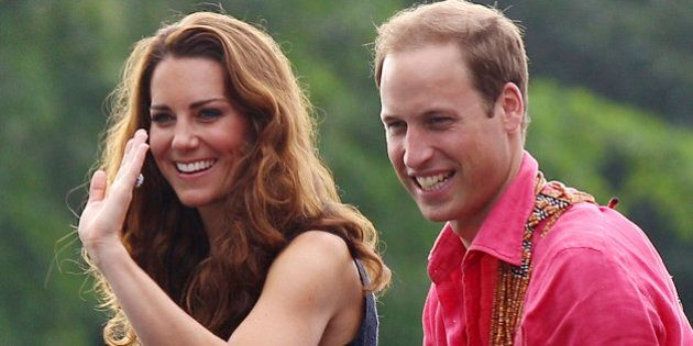 148d174963719 Britain's Prince William and his wife Kate, the Duke and Duchess of  Cambridge, smile