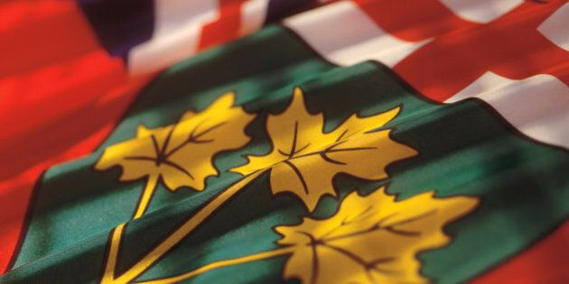 the flag of Ontario