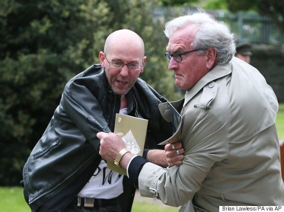 Brian Murphy, Protester Tackled By Kevin Vickers, Holds No